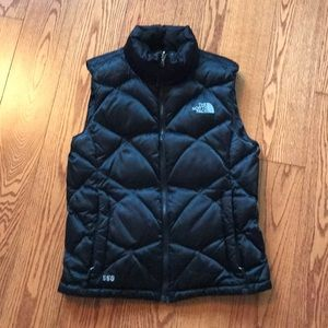 Black The North Face Down Puffy Vest